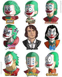 Cartoon Cartoon, Cartoon Styles, Joker Et Harley, Image Fairy Tail, Art Style Challenge, Joker Wallpapers, Cartoon Crossovers, Anime Crossover, Cool Cartoons