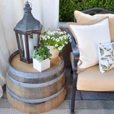 Ideas to update your patio on a budget. Photo via Centsational Girl
