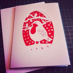 Robin card designed and cut by Paper Pig Designs