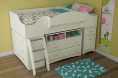 Great for small rooms! Found it at Wayfair - Imagine Twin Loft Bed in Pure White