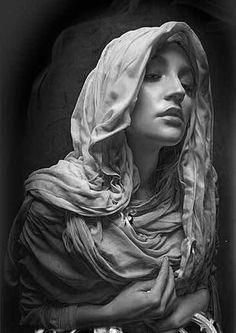 ArtStation - Study about cloth, Jinsung Lim Religious Tattoos, Religious Art, Portrait Art, Portrait Photography, Fake Tattoo, Girl Face Tattoo, Statue Tattoo, Chicano Art, Angel Statues