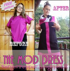 #FREE pattern and #tutorial: The Mod Dress  I need some more #LOVE on http://www.kollabora.com/projects/fashion-manifesto-challenge #sewing #diy SergerPepper.blogspot.it