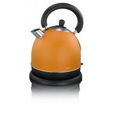 Waterkoker Exido RVS retro oranje