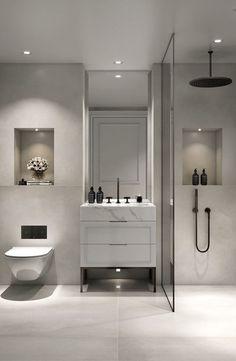 64 Adorable Bathroom Tile Design Ideas And Decor bathroom tile ideas, bathroom decoration, moder bathroom design, small bathroom ideas Bathroom Tile Designs, Modern Bathroom Design, Bathroom Interior Design, Bathroom Layout, Bathroom Ideas, Bathroom Organization, Bathroom Storage, Bathroom Cabinets, Boho Bathroom