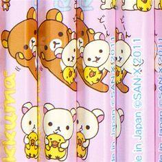 Rilakkuma pencil set 12pcs with bears and chick