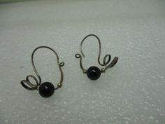 Vintage Sterling Silver Abstract Twisted Beaded Pierced Earrings, Dangle  #unbranded #pierceddangle