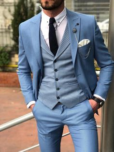 Men single breasted casual blazer uniq cloth ideas for wedding suits men navy grey bow ties wedding Mens Casual Suits, Dress Suits For Men, Mens Fashion Suits, Mens Suits Style, Blazers For Men Casual, Dress Clothes For Men, Suit Styles For Men, Prom Suits For Men, Clothes Swag