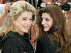 Catherine Deneuve and her daughter Chiara Mastroianni