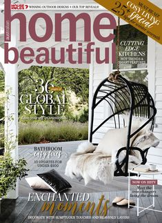Home Beautiful August 2018 Ad Home, Global Style, Beautiful Cover, Australian Homes, Winter House, Beautiful Kitchens, In This Moment, Magazine, Design