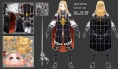 Anime girl mesh and texture