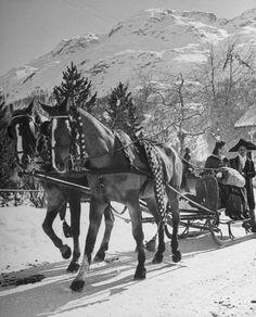 St. Moritz, 1947 | LIFE in Postwar St. Moritz: Cold Comfort for High Rollers
