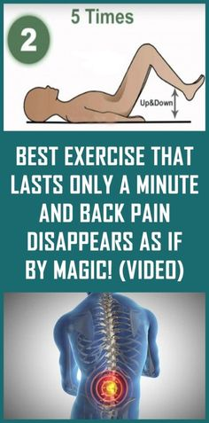 Best Exercise That Lasts Only a Minute and Back Pain Disappears As If By Magic! (Video) - Natural Cures House Best Exercise That Lasts Only a Minute and Back Pain Disappears As If By Magic! Natural Cure For Arthritis, Natural Cures, Natural Health, Natural Life, Fitness Workouts, Sciatica Symptoms, Sciatica Pain Relief, Cure For Sciatica, Back Pain Symptoms