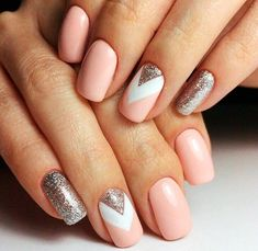 Glitter Nail Art Designs for Shiny & Sparkly Nails Do you find your nails boring? Do you want to easily and quickly add a shiny and fascinating look to your nails without wasting a long time on painting Pink Nail Designs, Cool Nail Designs, Nails Design, Sparkly Nails, White Nails, Pink Manicure, Gel Nails, Acrylic Nails, Mauve Nails