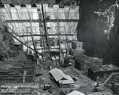 This pic of the Hoover Dam under construction falls under the political category. This is because it was Herbert Hoover's idea to make the Dam, which would create jobs