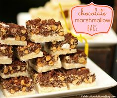 Rice Krispie Treats with Salted Caramel, Chocolate and Toasted Walnuts