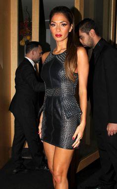 sass & bide   Nicole Scherzinger weaving her magic in the sass & bide woven leather dress. shop the WE CARRY ON dress...
