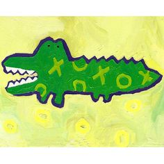 "Some of you have to get in on this: Cici Art Factory ""X & O Croc"" by Liz Clay Art Wall Kids, Wall Art, Kid Art, Painting Prints, Canvas Prints, Family Canvas, World Map Canvas, Personalised Canvas, Personalized Baby"