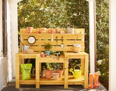 Anyone with a love for gardening knows the value of an organized space to put your tools, terra cotta pots and potting mix, ideally with a workspace to nurture seedlings, pot up new containers and clean just-picked produce. This Ultimate Potting Bench is your problem solver. Learn how to make it at The Home Depot's Garden Club.