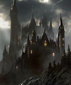 Fantasy art dark castles new Ideas Dark Fantasy Art, Fantasy City, Fantasy Castle, Fantasy Places, Fantasy World, Gothic Castle, Dark Castle, Dark Gothic, Gothic Art