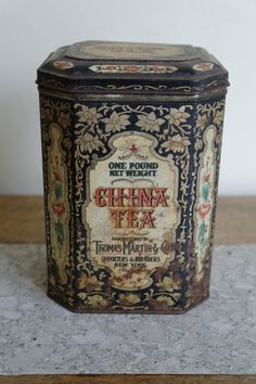 Vintage China Tea, Thomas Martin tin..