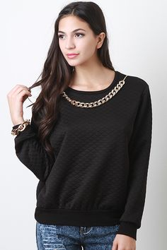 Quilted Necklace Top