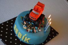 CÁCORkA: Oslava narozenin dětský dort s Plamínkem z čtyřkoláků (Blaze and the Monster Machines) Birthday Cake, Food, Birthday Cakes, Essen, Meals, Yemek, Cake Birthday, Eten