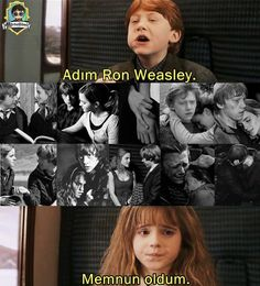"""""""I'm Ron Weasley. Always Harry Potter, Ron And Hermione, Harry Potter Movies, Harry Potter Hogwarts, Ron Weasley, Hermione Granger, Great Ab Workouts, Comedy Pictures, Movie Lines"""