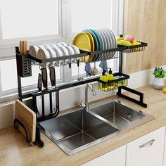 Unique Home Interior Stainless Steel Kitchen Dish Rack Fechonline.Unique Home Interior Stainless Steel Kitchen Dish Rack Fechonline Diy Kitchen Storage, Kitchen Drawers, Kitchen Dishes, Kitchen Organization, New Kitchen, Kitchen Decor, Organization Ideas, Kitchen Rack, Storage Ideas