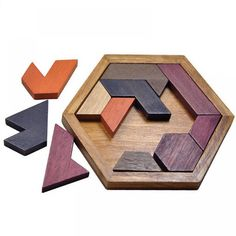 Children Kids Puzzles Wooden Toys Tangram Jigsaw Board Wood Geometric Shape Puzzle Educational Toys for kids Christmas gifts Tangram Puzzles, Wooden Jigsaw Puzzles, Puzzles Für Kinder, Puzzles For Kids, Geometric Drawing, Geometric Shapes, Educational Toys For Kids, Kids Toys, Toddler Toys