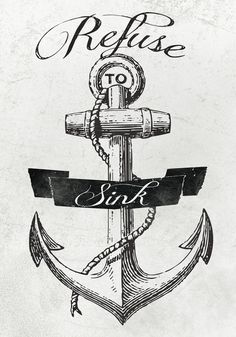 Refuse To Sink Art Print