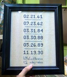 making it and working it.: Pinterest Challenge: Summer Edition and Dates Cross-stitch.