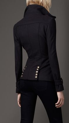 Funnel Neck Military Jacket | Burberry , Excelente corte