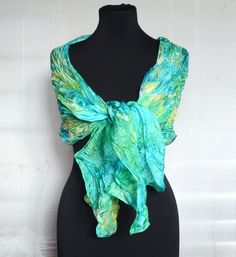 Silk scarf batik silk scarf handmadehand painted by batikelena