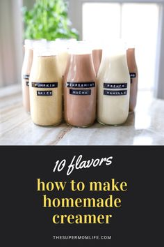 french vanilla creamer recipe A beautifully creamy and delicious flavored creamer that can be used as is, or as a base for a variety of creamer flavors. Vanilla Coffee Creamer, French Vanilla Creamer, Homemade Coffee Creamer, Almond Joy Creamer Recipe, Natural Coffee Creamer, Healthy Coffee Creamer, Peppermint Mocha, Homemade Vanilla, Dressings