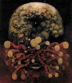 "Zdzislaw Beksinski ""the brain is mute"" / 'Jj"