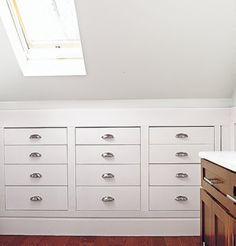 Storage: Recess it into Knee Walls