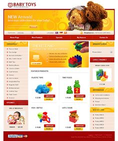 Baby Toys osCommerce Templates by Mira