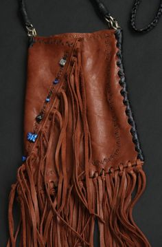 leather bag by SuSu     #bohemian#gypsy#feathers#beads#funfun