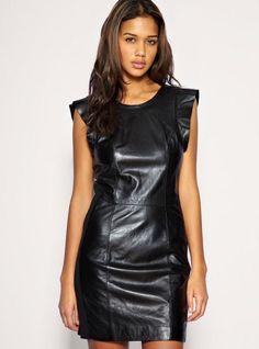 Vero Moda Very - Frill Sleeve Leather Dress