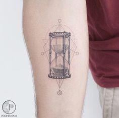 Hourglass tattoo by Karry Ka-Ying Poon