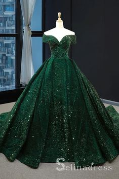 Real Picture Dark Green Sequins V Neck Sweep Train Formal Prom Dress, Special Oc. - Real Picture Dark Green Sequins V Neck Sweep Train Formal Prom Dress, Special Occasion Dress 2020 – dresses big big dresses green dress green dresses grey - Sparkly Prom Dresses, Pretty Dresses, Beautiful Dresses, Dress Prom, Elegant Dresses, Green Wedding Dresses, Dark Green Prom Dresses, Vintage Formal Dresses, Green Sparkly Dress