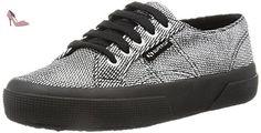 Superga  2750-Plisselamew, Pompes à plateforme plate femme - Gris - Grigio (Grey Silver), 40 EU - Chaussures superga (*Partner-Link)