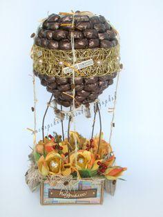 Gallery.ru / Воздушный шар- полет к мечте! - Композиции из конфет!Тематические композиции - byket-konfet