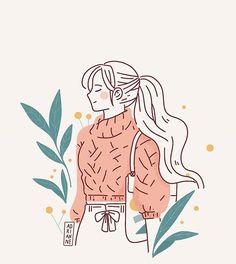 Illustration art girl painting drawings 48 new ideas Art And Illustration, Illustration Mignonne, Character Illustration, People Illustration, Animal Illustrations, Design Illustrations, Illustrations Posters, Art Inspo, Kunst Inspo