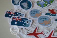 Tag Personalizado com o tema viagem-Austrália!🛫