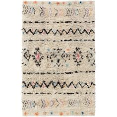 The Riad Rug is made by experts by merging form with function at Surya and is translated as the most relevant apparel and home decor trends into fashion-forward products across a range of styles and price points.   100% Wool Backing: N/A Hand Knotted Plush Pile Color: Ivory, Black, Hot Pink, Burnt Orange, Violet, Aqua Made in India