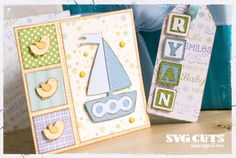 Mary's Corner – Baby Ryan's Birthday Card and Gift Tag | SVGCuts.com Blog