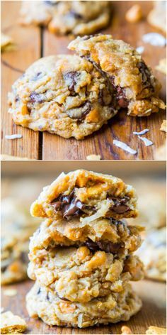 Soft and Chewy Seven Layer Magic Bar Cookies. Loaded with graham crackers, coconut, butterscotch & chocolate!