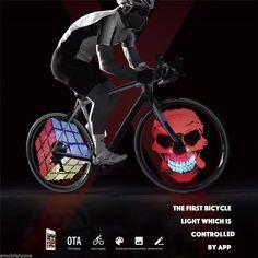 Sports & Entertainment 2 Side 32 Led 32 Mode Night Wheel Signal Lamp Reflective Rim Rainbow Tire Bikes Bicycle Fixed Spoke Warn Light Usb Charging Superior Performance Bicycle Light