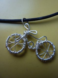 Handsculpted Wire Necklace  Bicycle Choker in by WeirdlyCute, $24.00
